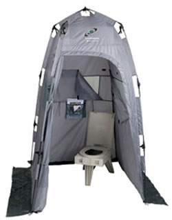 CleanWaste Outdoor Toilet and Privacy Tent