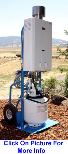 Portable Hot Water System Mounted on Hand Cart