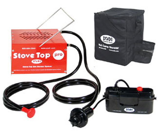 Zodi Stove Top Pro Water Heater and Shower