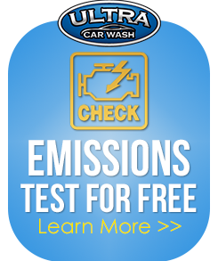 Emissions Test for Free Learn More at Ultra Car Wash